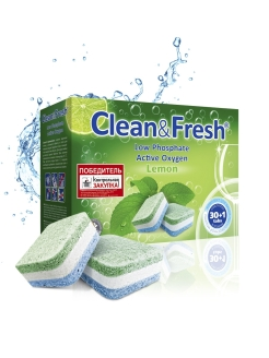 "Таблетки для ПММ ""Clean&Fresh"" All in1 (midi) 30 шт. Clean&Fresh"