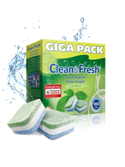 "Таблетки для ПММ ""Clean&Fresh"" All in1 (giga) 100 шт. Clean&Fresh"