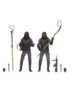 "Planet of the Apes - 7"" Action Figure - Classic Gorilla Soldier 2 Pack Neca"