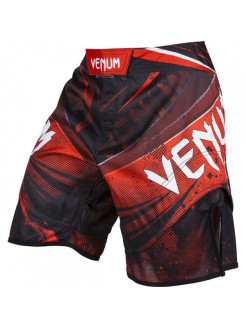 Шорты ММА Galactic Fightshorts Black/Red Venum