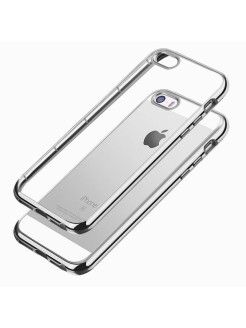 Накладка silicone chrome border 4People для Apple iPhone 5/5S/5SE skinBOX