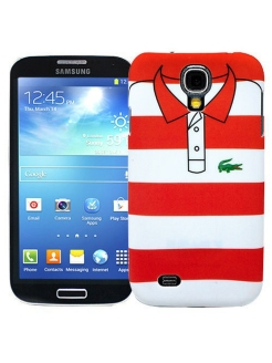 "Чехол для Samsung Galaxy S4 ""Red and white stripes"", серия ""Sports shirt"" Kawaii Factory"
