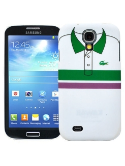 "Чехол для Samsung Galaxy S4 ""Green & purple stripes"", серия ""Sports shirt"" Kawaii Factory"