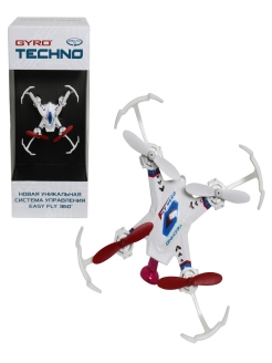 Квадрокоптер 1toy GYRO-Techno 2,4GHz 4 канала 4,5х4,5см, 6-осевой, real headless режим 1Toy