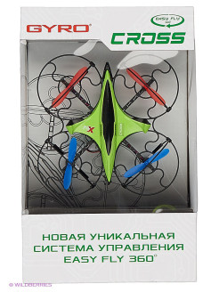 Квадрокоптер 1toy GYRO-Cross 2,4GHz 4 канала 16х16см, 6-осевой, real headless режим 1Toy