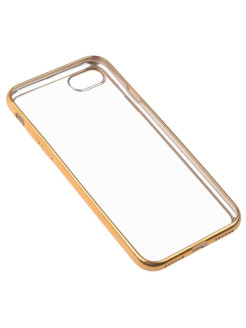 Накладка  skinBOX silicone chrome border 4People для Apple iPhone 7 skinBOX