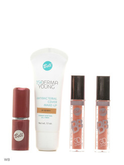 Спайка флюид derma young foundation, блеск bb 3d lip gloss, помада lipstick classic Bell