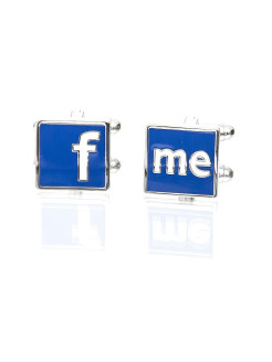 Запонки фэйсбук Facebook Churchill accessories