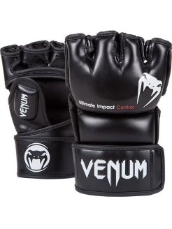 Перчатки ММА Impact - Skintex Leather Black Venum