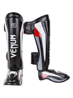 Щитки Venum Elite Standup Shinguards - Black/Red/Grey Venum