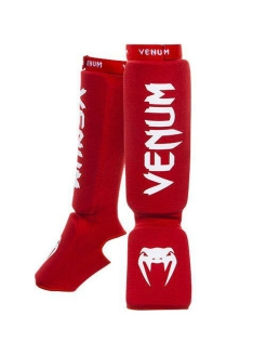 Щитки Venum Kontact Shinguards and Instep Red Venum