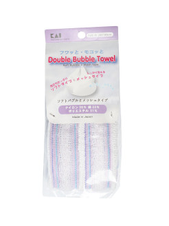 "Double Bubble Towel"" Мочалка для тела мягкая Kai"