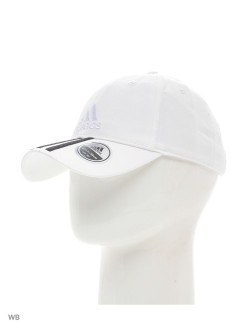 Бейсболка  6P 3S CAP COTTO     WHITE/BLACK/WHITE Adidas