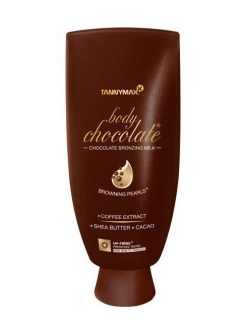 Body Chocolate Bronzing - молочко для загара с усиленными бронзаторами и гранулами масла какао Tannymaxx