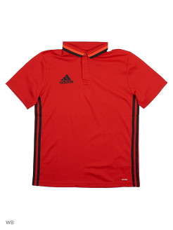 Поло CON16 CL POLO Y  SCARLE/BLACK Adidas