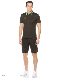 Поло Con16 Cl Polo Nbrown/Branch Adidas