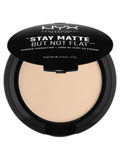 Тональная основа-пудра STAY MATTE BUT NOT FLAT POWDER FOUNDATION - LIGHT BEIGE 015 NYX PROFESSIONAL MAKEUP