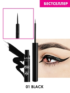 Жидкий матовый лайнер MATTE LIQUID LINER - BLACK 01 NYX PROFESSIONAL MAKEUP