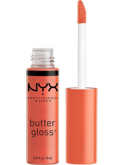 Увлажняющий блеск для губ BUTTER LIP GLOSS - PEACH CRISP 23 NYX PROFESSIONAL MAKEUP