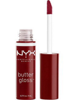 Увлажняющий блеск для губ BUTTER LIP GLOSS - RED WINE TRUFFLE 27 NYX PROFESSIONAL MAKEUP