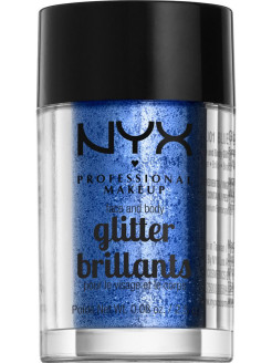 Глиттер для лица и тела FACE & BODY GLITTER - BLUE 01 NYX PROFESSIONAL MAKEUP
