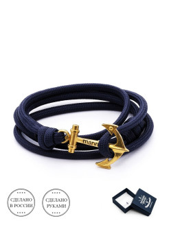 "Браслет с якорем ""Navy, white anchor"" Mariner Brand"