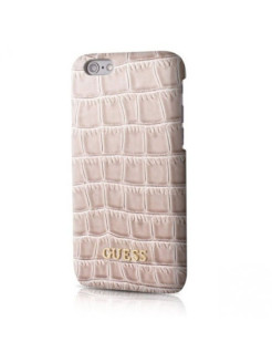 Чехол Guess для iPhone 7 Croco Hard PU Beige GUESS