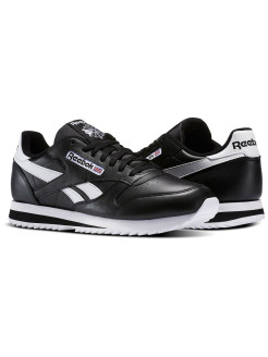 Кроссовки CL LEATHER RIPPLE L BLK/WHT Reebok