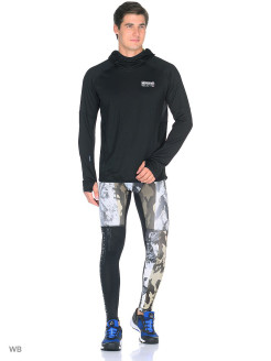 Тайтсы OS CAMO TIGHT COAL Reebok