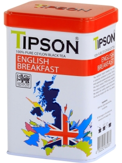 Чай Tipson ENGLISH BREAKFAST 85 гр, ж/б Tipson