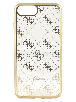 Чехол для iPhone 7 Plus 4G Transparent Hard TPU Gold GUESS