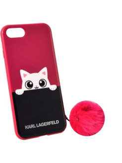 Чехол Lagerfeld для iPhone 7 K-Peek A Boo Hard TPU Pink Karl Lagerfeld