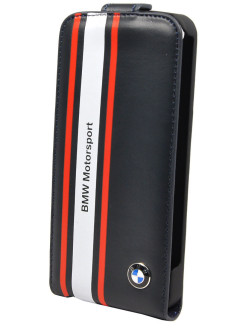 Чехол BMW для iPhone 5S/SE Motorsport Flip Navy blue BMW