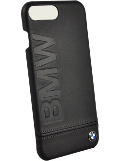 Чехол BMW для iPhone 7 Plus Signature Logo imprint Hard Leather Black BMW