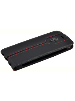 Чехол для iPhone 7 Montecarlo Flip Leather Black FERRARI