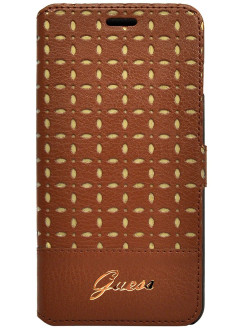 Чехол Guess для iPhone 6 Plus/6S Plus Gianina Booktype Cognac GUESS