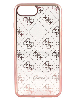 Чехол Guess для iPhone 7 Plus 4G Transparent Hard TPU Rose gold GUESS