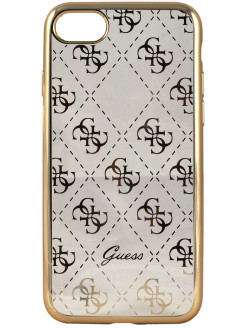 Чехол Guess для iPhone 7 4G Transparent Hard TPU Gold GUESS