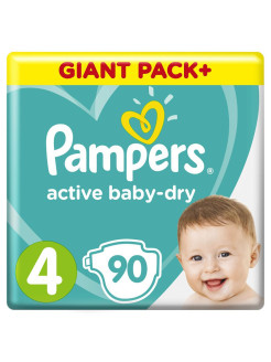 Подгузники Pampers Active Baby-Dry 9-14 кг, размер 4, 90 шт. Pampers
