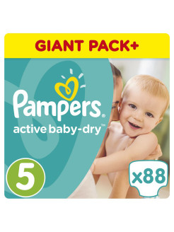 Подгузники Pampers Active Baby-Dry 11-18 кг, 5 размер, 88 шт. Pampers