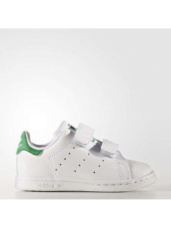 Кеды STAN SMITH CF I FTWWHT/FTWWHT/GREEN adidas