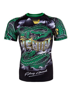 Рашгард Crocodile Black/Green S/S Venum