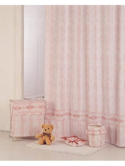 Штора д/в (Rimini)  pink 180*180 Bath Plus