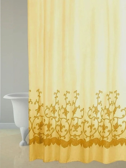 Штора д/в (Plot Art) yellow 180*180 Bath Plus