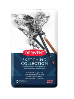 Набор карандашей Sketching Collection 12цв в метал.упак Derwent