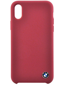 Чехол BMW для iPhone X Signature Liquid silicone Hard TPU, Burgundy BMW