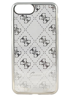 Чехол Guess для iPhone 7 Plus/8 Plus 4G Transparent Hard TPU Silver GUESS