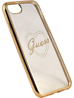 Чехол Guess для iPhone 7/8 Signature heart Hard TPU Gold GUESS
