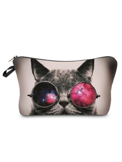 Косметичка Cat in glasses, 20х14х4 Homsu