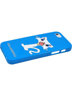 Lagerfeld iPhone 5S/SE Monster Choupette Hard TPU Light blue Karl Lagerfeld